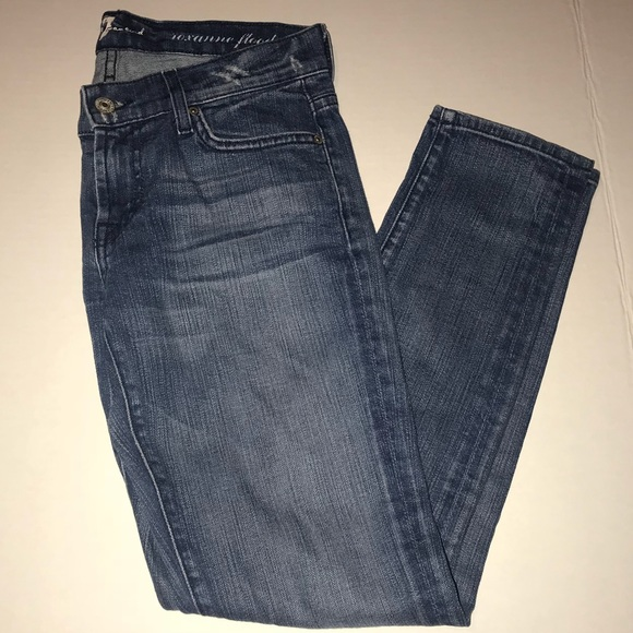 7 For All Mankind Denim - 7 for All Mankind flood distressed crop jeans